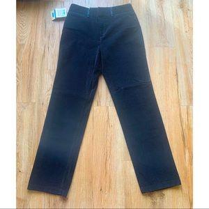 Dockers size 8 women's black velour pants